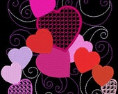 SWEETHEARTS #6- 1 Machine Embroidery Design Instant Download 4x4 5x7 6x10 hoop (AzEB)