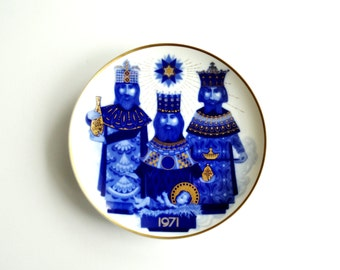 1970 Limited Addition Three Wisemen by Artist Don Jose Fuentes - Collectible Christmas Wall Plate