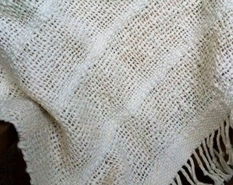 Organic Cotton Handwoven Baby Blanket- Natural