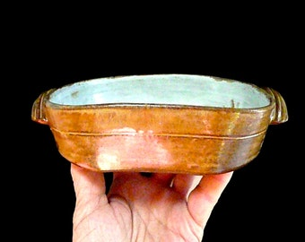 SQUARE CASSEROLE with SAFETY Handles, Stoneware Casserole, Baking Dish