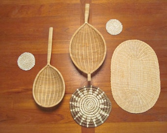 Vintage Woven Wicker Wall Hangings Collection