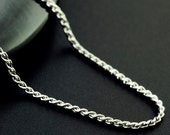 1 Stainless Steel 1.2mm Serpentine Chain - 19 inches with Clasp