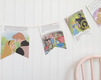 sleeping beauty book party decoration banner garland