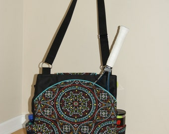Large Tennis Bag with Rounded Pockets -Made to Order !