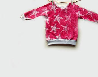 Chalk Star Sweatshirt, baby jumper, baby clothes.