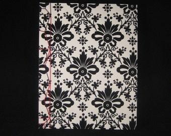 Black Velvet Notebook - Stab Binding