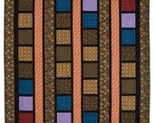 """Line Dance Quilt Kit, Queen Size Kit. Makes a 92"""" x 101"""" size quilt. Intermediate Skill! Rich and Elligant colors"""