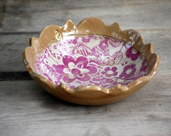 Ceramic bowl, handmade pottery bowl - READY TO SHIP