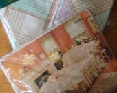 Vintage Spring maid No Iron Tranquility Full Sheet Set NIP Quadrille