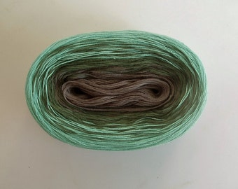 MOUNTAIN LAKE II  Color Changing Cotton yarn  480 yards/100 gr  Fingering Weight