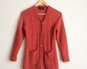 1970s wool cardigan sweater
