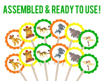 Lion Guard Cupcake Toppers . Lion Guard Party . Lion Guard Birthday Party . Lion Guard Decorations . Set of 12
