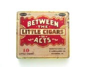 Vintage Cigar Tin Between the Acts Tobacco Collectible