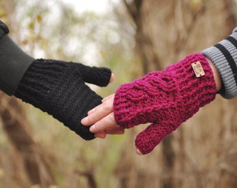 Braided Fingerless Gloves