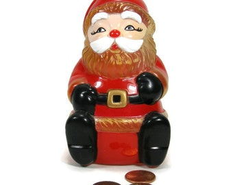 Vintage Santa Claus Bank plastic from 1960s