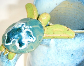 Sea Turtle Mug Ocean Blue Green