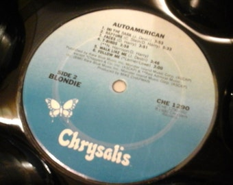 """Blondie """"Autoamerican""""  Genuine 33rpm Upcycled LP Record Bowl on Chrysalis records"""