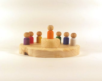 SMALL Waldorf Days of the Week, Days of the Week, Colors of the Week, Rainbow Peg People, Waldorf Rhythm, Rhythm Gnomes, Waldorf Pegs