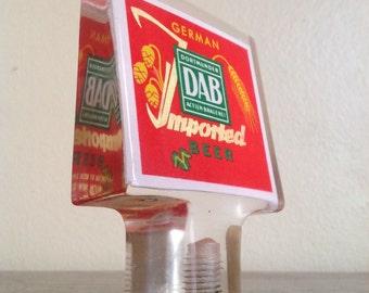Vintage DAB Lucite Beer Pull. German Bier Memorabilia. Dortmunder Actien Brauerei