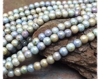 Misty Mountain Luster Mix Czech Glass Druk 3mm Beads