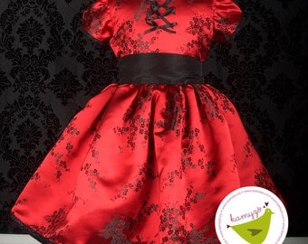 Red Cherry Blossom Dress Size 6