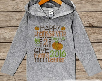 Kids Thanksgiving Outfit - Kids Stats Hoodie - Toddler Thanksgiving Outfit - Baby Boy or Girl Grey Pullover - Thanksgiving Pumpkin Shirt