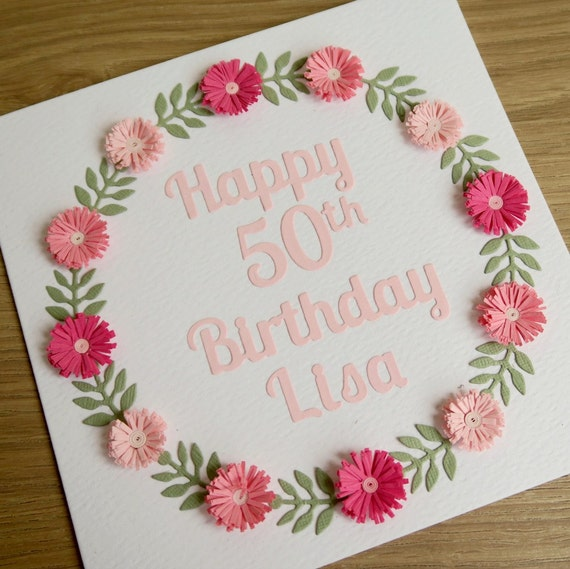paper quilling birthday card 21st 30th 40th 50th 60th