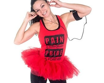 Running Tutu-Red Organza Running Skirt- Dress up Tutu