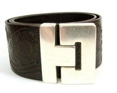 25% OFF Buckle Style Magnetic Clasps for 40mm Flat Leather - Antique Silver - Choose Your Quantity