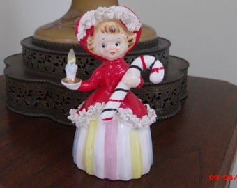 AFTER Christmas SALe Vintage Christmas Angel Bell Candy Cane Spaghetti Japan