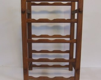 Vintage Wine Rack Wood Wooden Wine or bottle holder