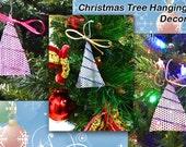 Set of 6 Christmas, Metal, Tree Hanging Decoration