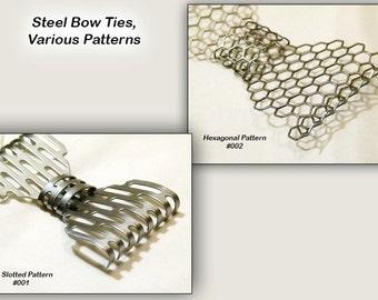 Metal Neck Bow Tie, Steel, Various Patterns