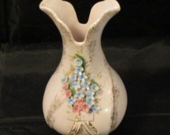Mid Century Small Pink Vase, 50's Blooming Vase, Small Pink Vase, Vintage Vase 50's Pink, Porcelain Vase, Mid Century Vase