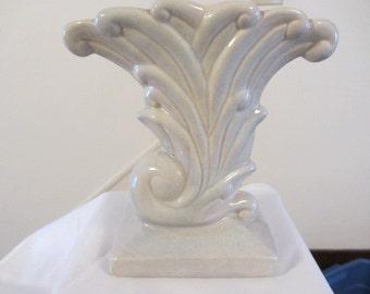 Collectible Vases 1940-50's, Cornucopia Vase, Vintage Vase, Mid Century Vase, Art Deco Vase, Floral Vase Art Deco Style, Pottery Vase