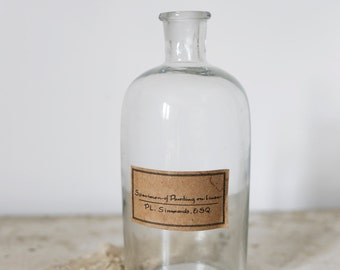 glass bottle with label
