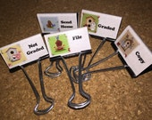 Birdhouse Teacher Binder Clips Teacher Organization Clips Set of 5