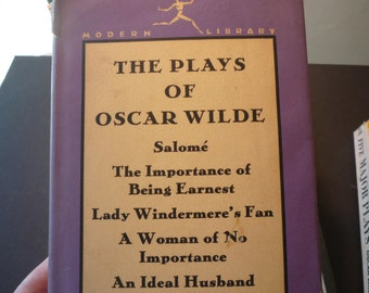 Vintage Book - The Plays of Oscar Wilde - Modern Library edition  first edition thus - 5 plays - gift for comedy lovers - hardcover