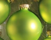 Parrot Green -- Glass Ball Ornament -- 1 or 8 count -- Christmas by Krebs -- Ornament to Decorate