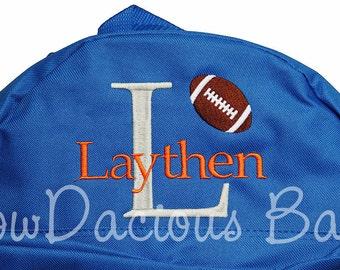 Boys Backpack, Boys Football Backpack, Boys Personalized Backpack, Custom Boys Backpack, School Backpack, Monogrammed