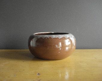 Gorgeous Brown Drip Planter - Vintage Brown Bowl - Angulo Ceramics Calif. USA P2 - Mid Century Flower Planter or Bowl