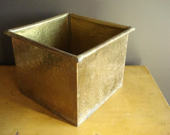 Brass Beast - Large Brass Planter - Square Brass Planter or Bowl or Bin