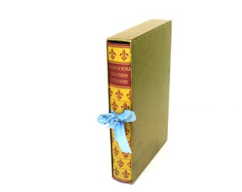 Twenty Years After by Alexandre Dumas COLLECTIBLE Heritage Press Edition, Goth Wedding Decor, Vintage Dumas Book, Vintage Yellow Book Decor