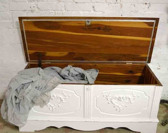 Painted Cottage Shabby Romantic Hope Chest CH851