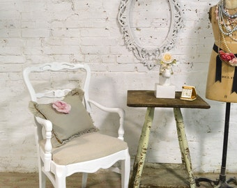 Painted Cottage Chic Shabby French Dining Kitchen Mix and Match Chair CHR136
