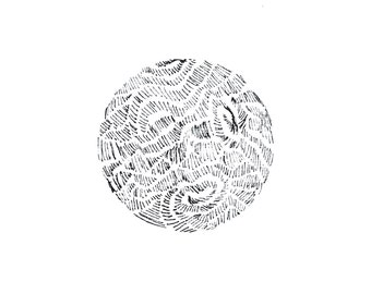 minimalist ink print: Planet I