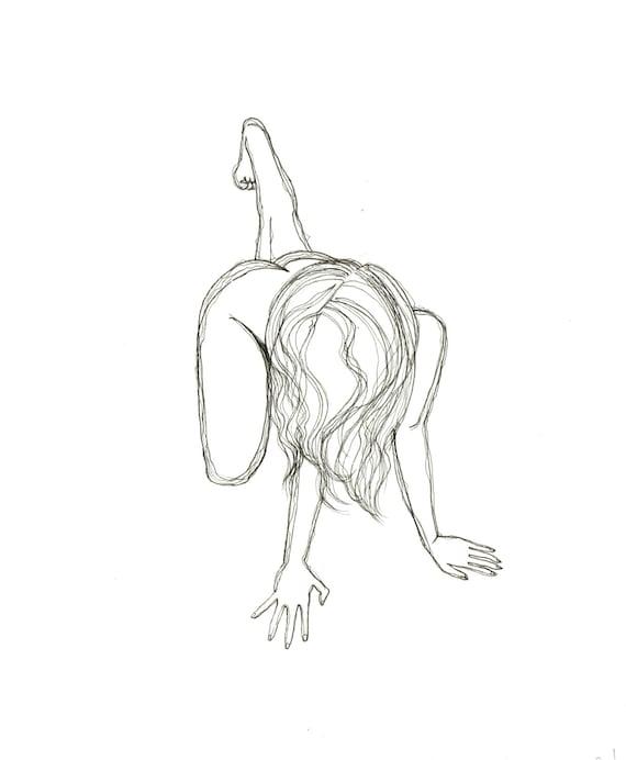 minimalist ink print: Crouch