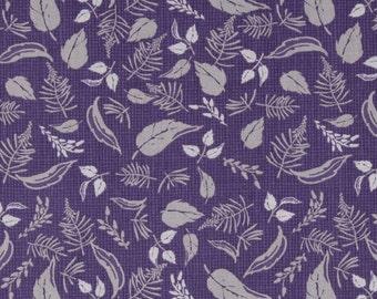 Wilmington Prints Purple Haze Purple Leaf Toss  Fabric by the Yard 44068-699