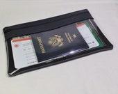 10x6 Travel Document Wallet - Long Travel Wallet - Passport Wallet - Travel Document Holder  - Zipper Travel Wallet  -Mens Wallet