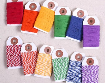 Classic Rainbow Bakers Twine, Rainbow Twine, Cotton Twine, Gift Wrap, Baker's Twine, Packaging, Bakers String, Cotton String, Rainbow String